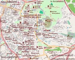 map of and vilnius tourist maps true lithuania