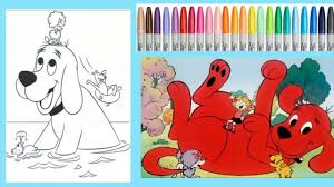 clifford the big red dog coloring page kids coloring book with