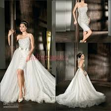 discount stunning glamour bling two pieces wedding dresses 2015