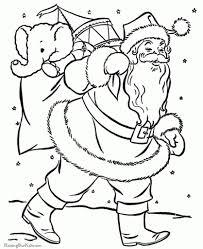 santa claus coloring pages bag toys coloring pages santa
