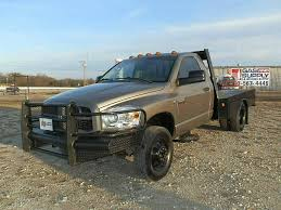 dodge one ton trucks for sale 2007 dodge ram 3500 4x4 flatbed for sale in canton tx from