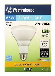 65 Watt Flood Light Westinghouse Br30 9 Watt 65 Watt Equivalent Medium Base Cool