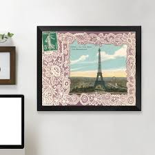 how to hang canvas art without frame east urban home eiffel tower postcard st graphic art print
