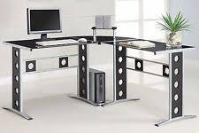 L Shaped Studio Desk Contemporary Corner Desks L Shaped Desks Office Furniture Ebay