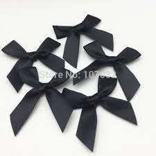 black satin ribbon 100pcs black polyester satin ribbon bows decorative bow