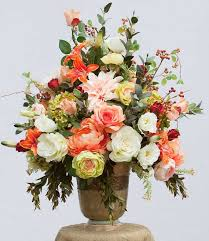 artificial floral arrangements xl silk floral arrangement luxury arrangement table