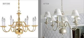 Brass Chandelier Makeover Brass Chandelier Makeover House Furniture Ideas