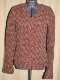 crochet vertical rib v neck women u0027s sweater i knit and crochet
