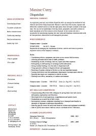 Job Summary Examples For Resumes by Pretentious Idea Dispatcher Resume 1 Dispatcher Resume Driver