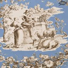 round french toile de jouy pastorale blue tablecloth i dream of