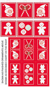 christmas icons 6 ornament set cross stitch pattern ornaments