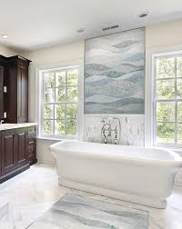 Traditional Bathtub Broken Mosaic Tile Walkway Bathroom Contemporary With Kitchen Tile