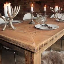 Chunky Rustic Dining Table Reclaimed Wooden Dining Tables Modern Home Design