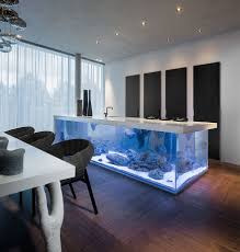 Kitchen Counter Islands by This Kitchen Island Is Also A Giant Aquarium Bored Panda