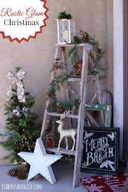 Decorative Christmas Tree Ladders by Rustic Glam Christmas Porch Decorating Front Porches And Porch