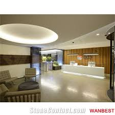 Illuminated Reception Desk Luxury Acrylic Solid Surface White Illuminated Led Office Hotel