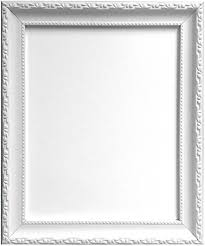 frames by post shabby chic picture photo frame 70 x 50 cm white