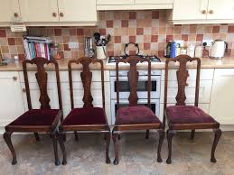 set of 4 queen anne dining chairs ideal for an upcycle project
