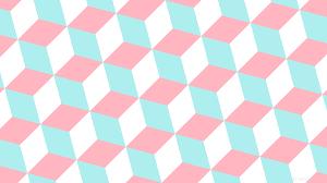 wallpaper blue white 3d cubes pink ffb6c1 afeeee ffffff 15