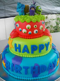 monsters inc birthday cake monsters inc themed birthday cake cakecentral