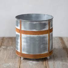 galvanized rolling tub planter terrain