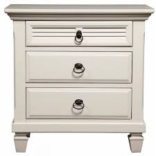 alpine furniture winchester 3 drawer nightstand white hayneedle