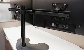 Ergotech Triple Horizontal Lcd Monitor Arm Desk Stand Amazon Com Ergotech Dual Horizontal Lcd Monitor Arm Desk Stand