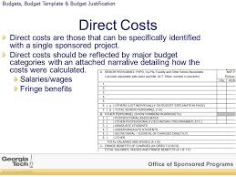 office of sponsored programs all rights reserved gtrc budgeting