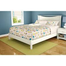 Platform Beds White South Shore Step One Queen Size Platform Bed In Pure White 3050203