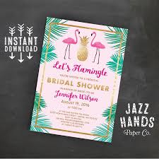 let u0027s flamingle printable bridal shower invitation template