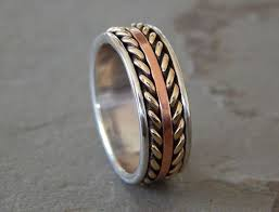 royal flush wedding band royal flush silver copper men s wedding ring