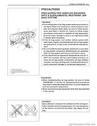 suzuki swift 2000 1 g sf310 service workshop manual