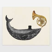 terry fan the whale art print whale song art print by terryfan on boomboomprints