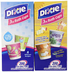 dixie cups dixie 3 ounce cups assorted patterns 200 count box