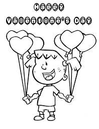 valentine balloons coloring pages