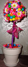 Lollipop Topiary Floral Arrangement Candy And Floral Centerpiece Youtube