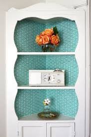try this fabric lined built in shelves u2013 a beautiful mess