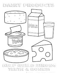 healthy food coloring pages preschool healthy food coloring pages food coloring page dairy foods coloring
