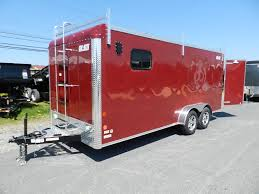 Red Barn Trailers Carmate 7 X 18 Enclosed Contractor Trailer Windows U0026 Barn Door