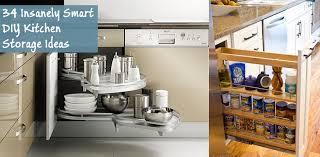 smart kitchen cabinet storage ideas 34 insanely smart diy kitchen storage ideas