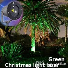 2017 outdoor light projector single green static