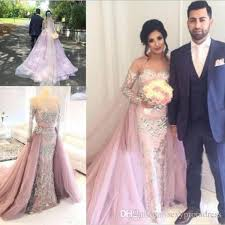 dusty wedding dress dusty pink cystals beaded mermaid wedding dresses 2017 tulle