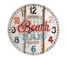 Horloge Murale Rouge by Pendule Horloge Rouge Murale Neuve Deco Beach Bar Club Vintage