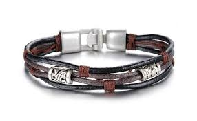 girls leather bracelet images Handmade genuine leather bracelet for men and women mens watches jpg