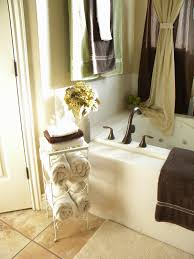 Towel Rack Ideas For Small Bathrooms Bathroom Ceramic Tile Bathroom Nice Towel Rack Nice Framed Mirror