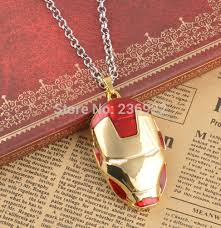 man necklace store images 20pcs lot wholesale fashion gold charm iron man marks pendant jpg