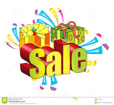 3d sale sign with presents stock images image 7567244