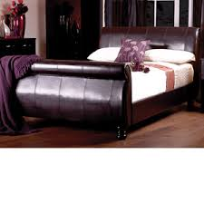 King Size Leather Sleigh Bed King Size Leather Beds Sale Ends Soon Bedstar