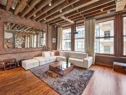 interior loft apartment brick in astonishing small office