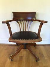 Antique Captains Chair Antique 1920 1930s Swivel Office Chair Bankers Chair Captians